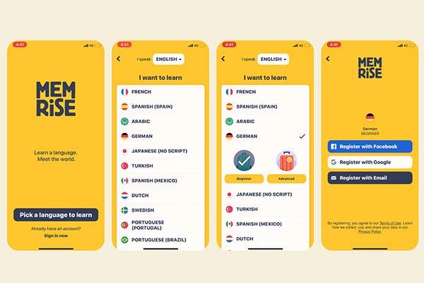 اپلیکیشن های یادگیری زبان